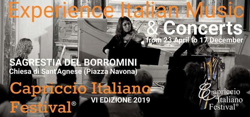 Capriccio Italiano : Festival du goût instrumental italien 2019